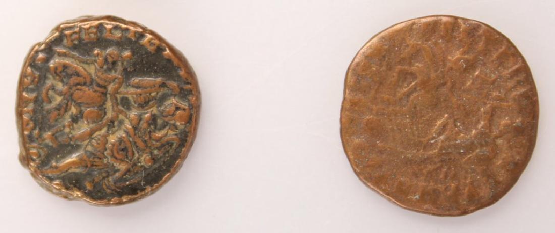 10 MIXED ANCIENT GREEK & ROMAN COPPER COINS - 10
