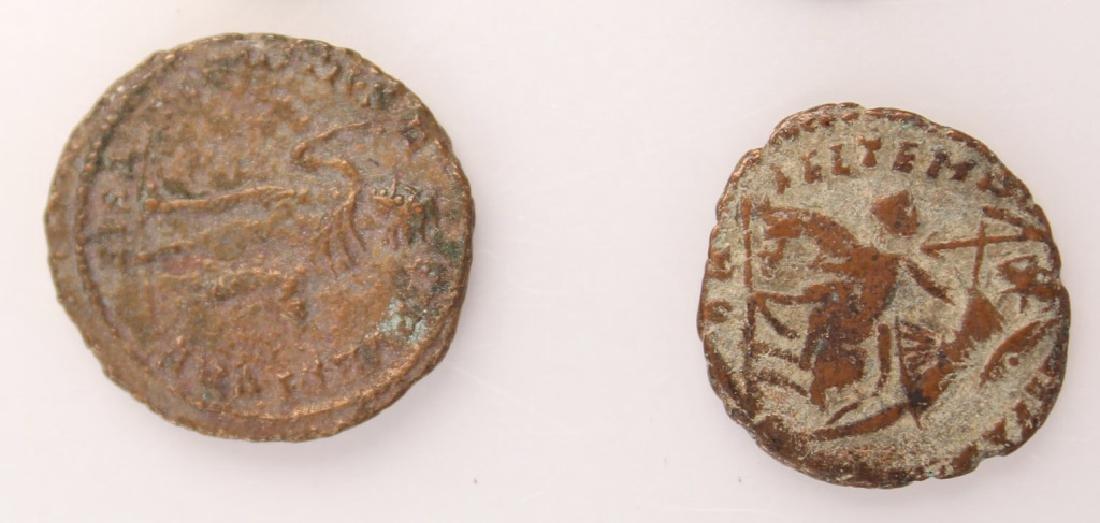 10 MIXED ANCIENT GREEK & ROMAN COPPER COINS - 11