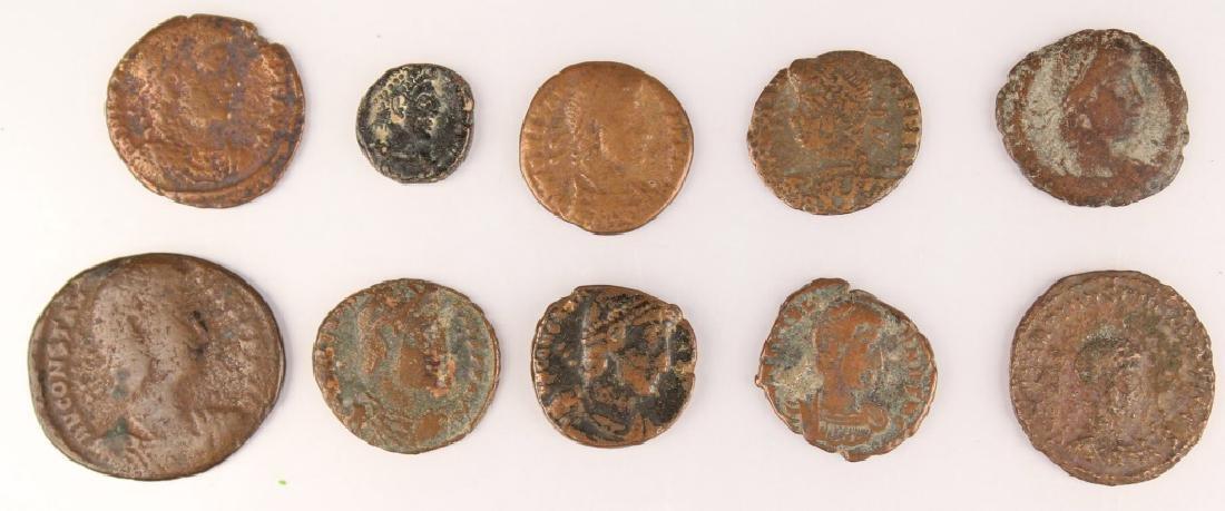 10 MIXED ANCIENT GREEK & ROMAN COPPER COINS