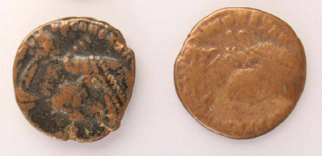 10 MIXED ANCIENT GREEK & ROMAN COPPER COINS - 4