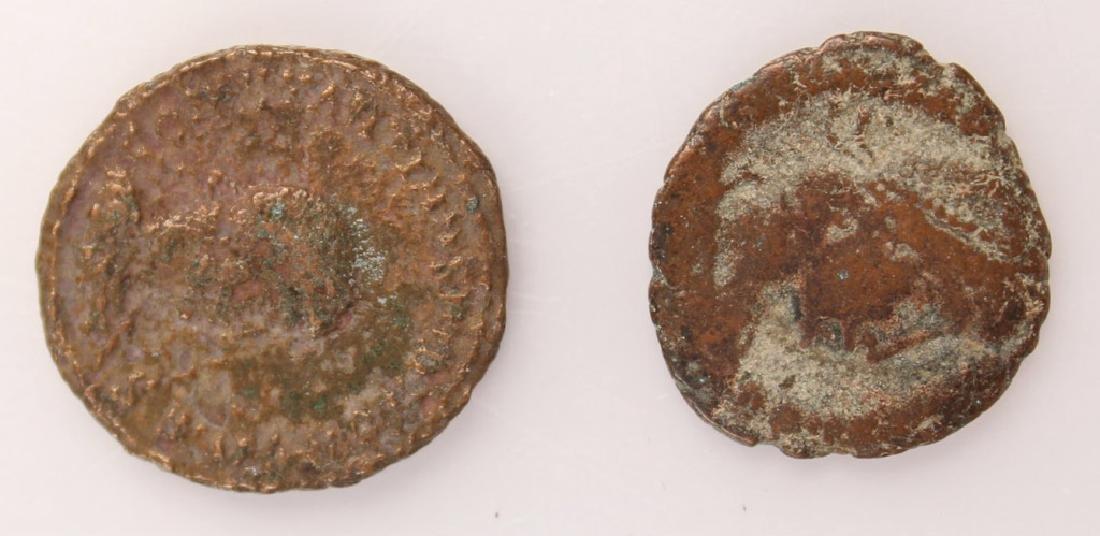 10 MIXED ANCIENT GREEK & ROMAN COPPER COINS - 6