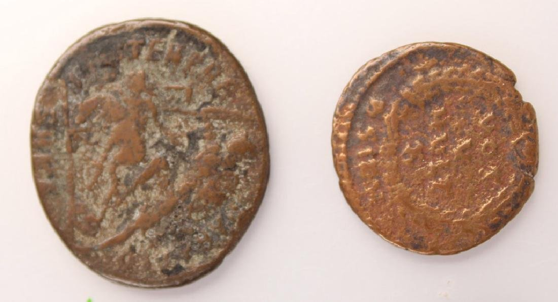 10 MIXED ANCIENT GREEK & ROMAN COPPER COINS - 8