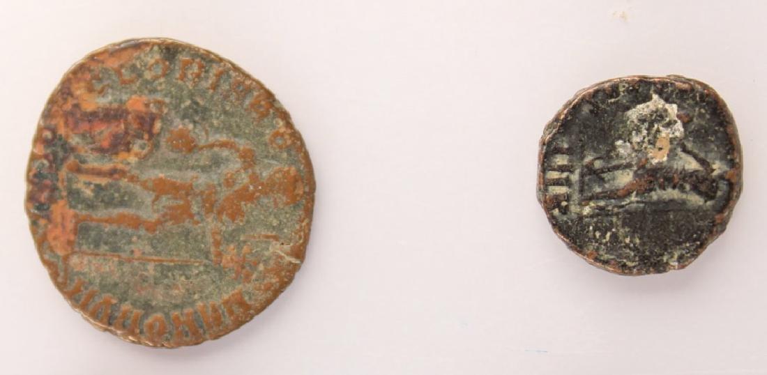 10 MIXED ANCIENT GREEK & ROMAN COPPER COINS - 9