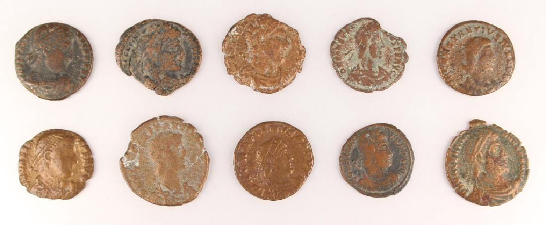 10 MIXED ANCIENT GREEK & ROMAN COPPER COINS