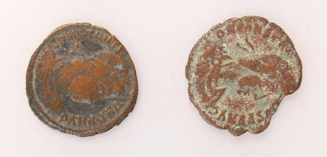 10 MIXED ANCIENT GREEK & ROMAN COPPER COINS - 5