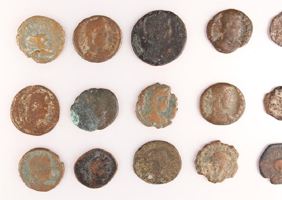 20 MIXED ANCIENT GREEK & ROMAN COPPER COINS - 10