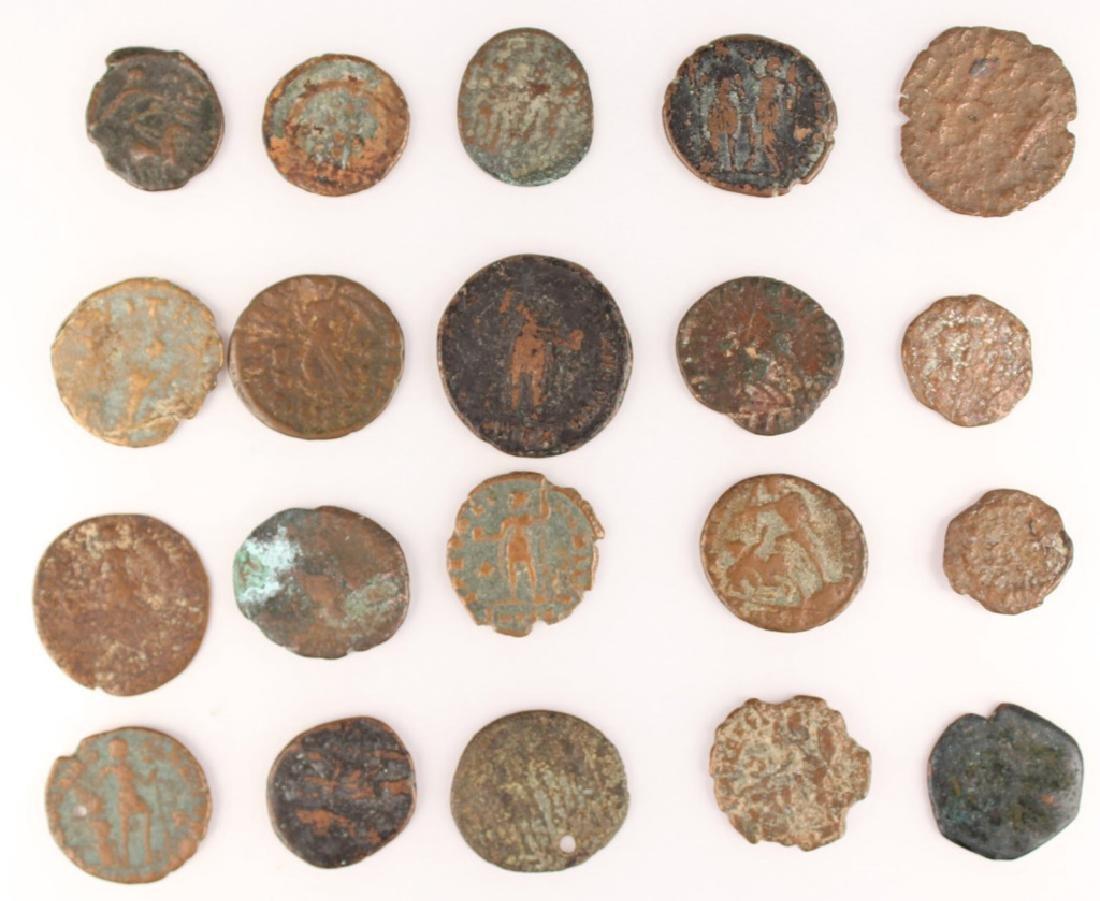20 MIXED ANCIENT GREEK & ROMAN COPPER COINS