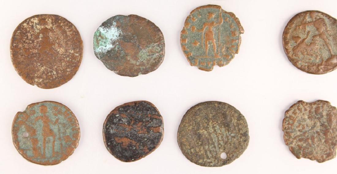 20 MIXED ANCIENT GREEK & ROMAN COPPER COINS - 5