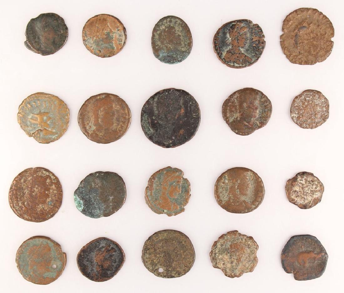 20 MIXED ANCIENT GREEK & ROMAN COPPER COINS - 6
