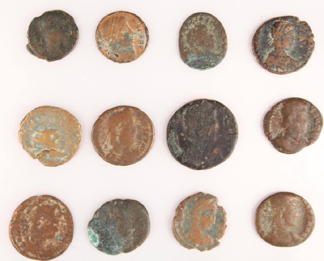 20 MIXED ANCIENT GREEK & ROMAN COPPER COINS - 7