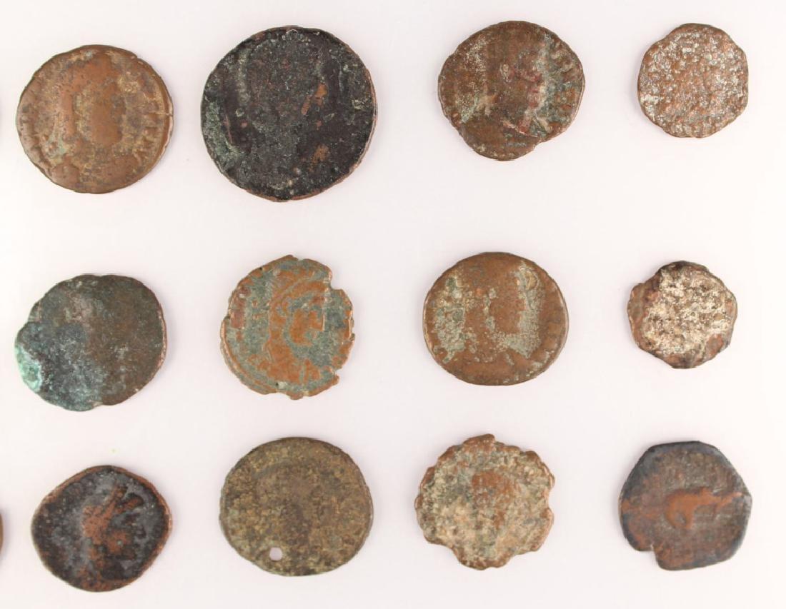 20 MIXED ANCIENT GREEK & ROMAN COPPER COINS - 9