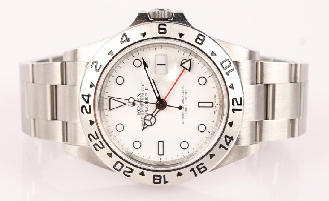MEN'S STEEL WHITE ROLEX EXPLORER II WATCH 16570