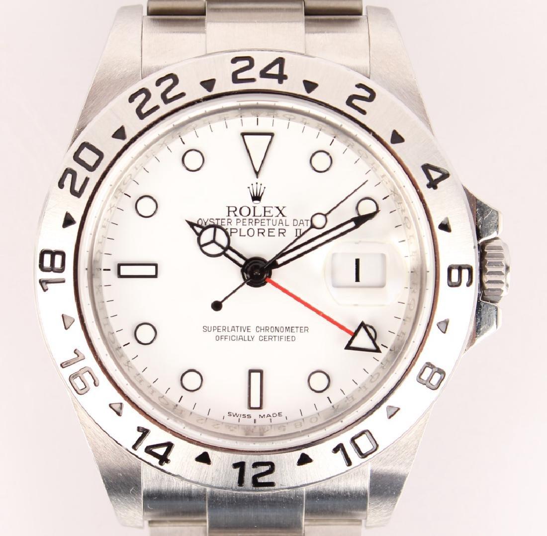 MEN'S STEEL WHITE ROLEX EXPLORER II WATCH 16570 - 2