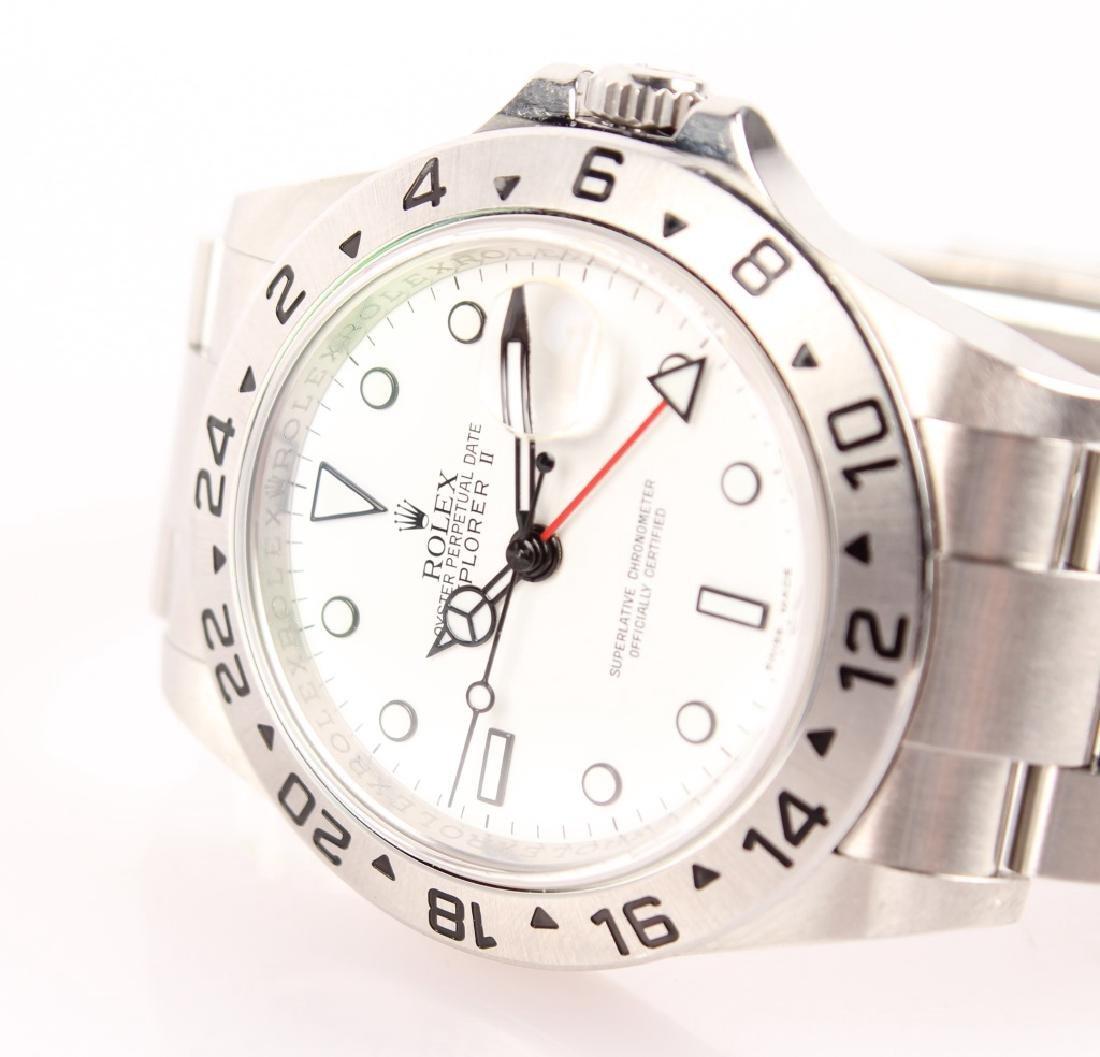 MEN'S STEEL WHITE ROLEX EXPLORER II WATCH 16570 - 3