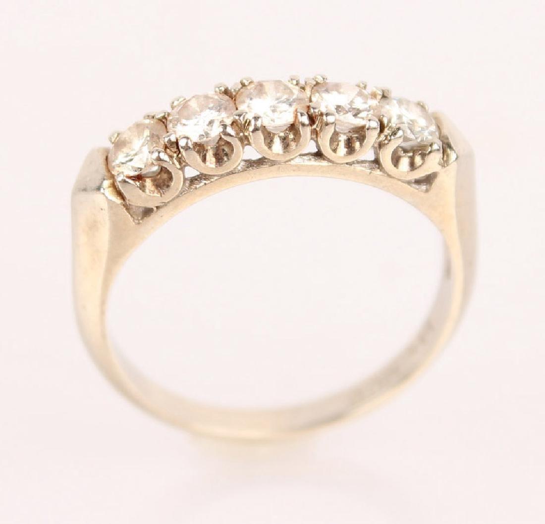 14K WHITE GOLD & DIAMOND BAND - 2