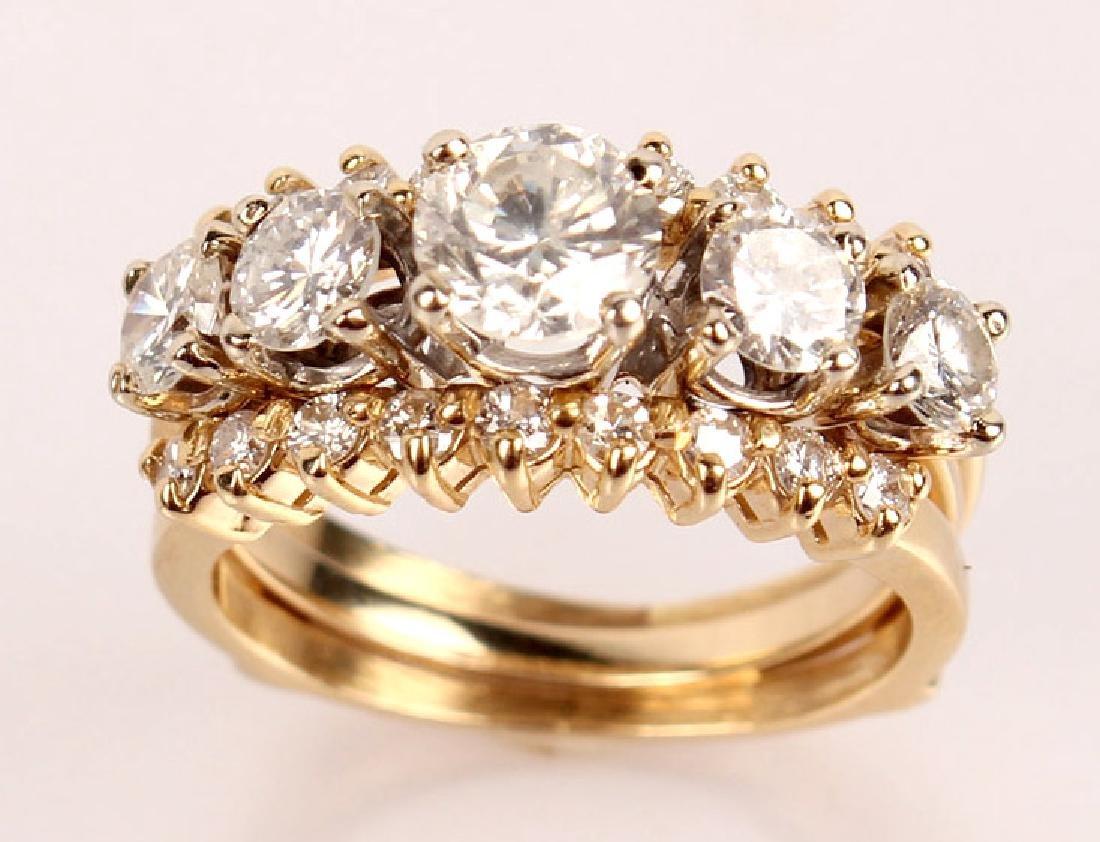14K YELLOW GOLD 2.46CTW DIAMOND WEDDING SET