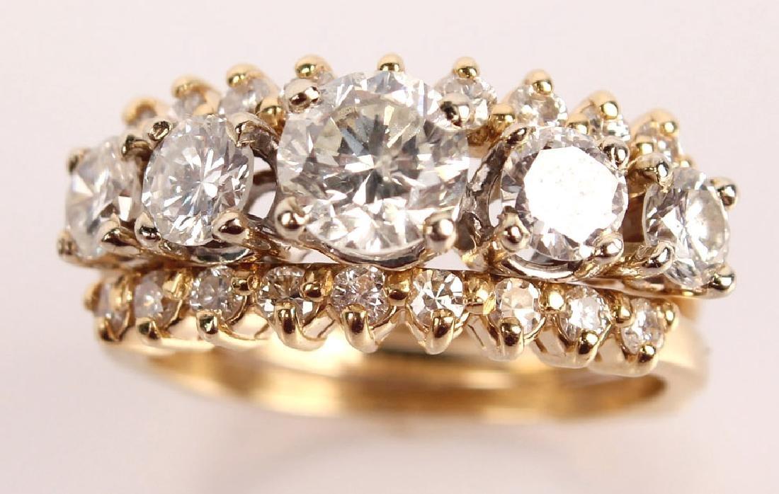 14K YELLOW GOLD 2.46CTW DIAMOND WEDDING SET - 2