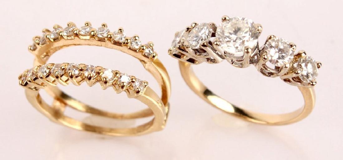 14K YELLOW GOLD 2.46CTW DIAMOND WEDDING SET - 3