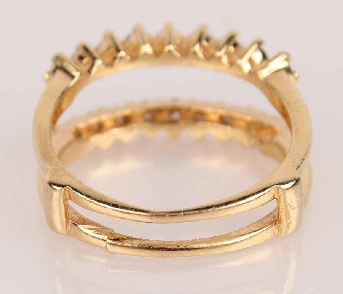 14K YELLOW GOLD 2.46CTW DIAMOND WEDDING SET - 4