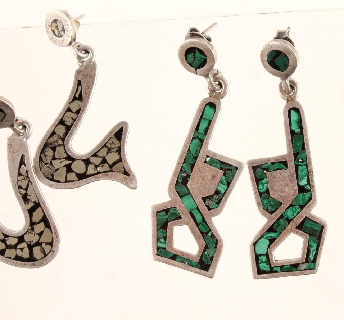 2 PAIRS OF TAXCO CARLOS SIGNED STERLING EARRINGS - 2