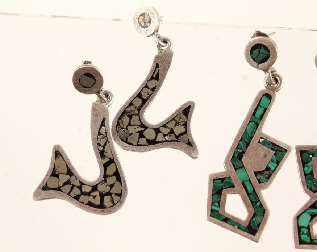 2 PAIRS OF TAXCO CARLOS SIGNED STERLING EARRINGS - 3