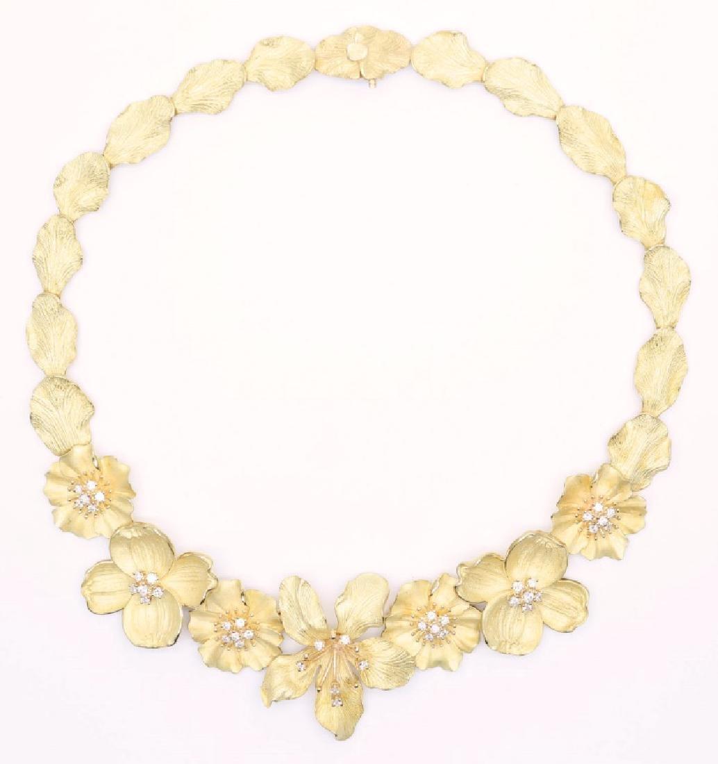 18K YELLOW GOLD TIFFANY & CO. DIAMOND NECKLACE