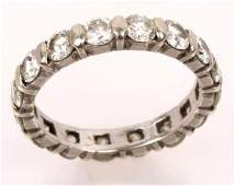 LADIES PLATINUM DIAMOND ETERNITY BAND
