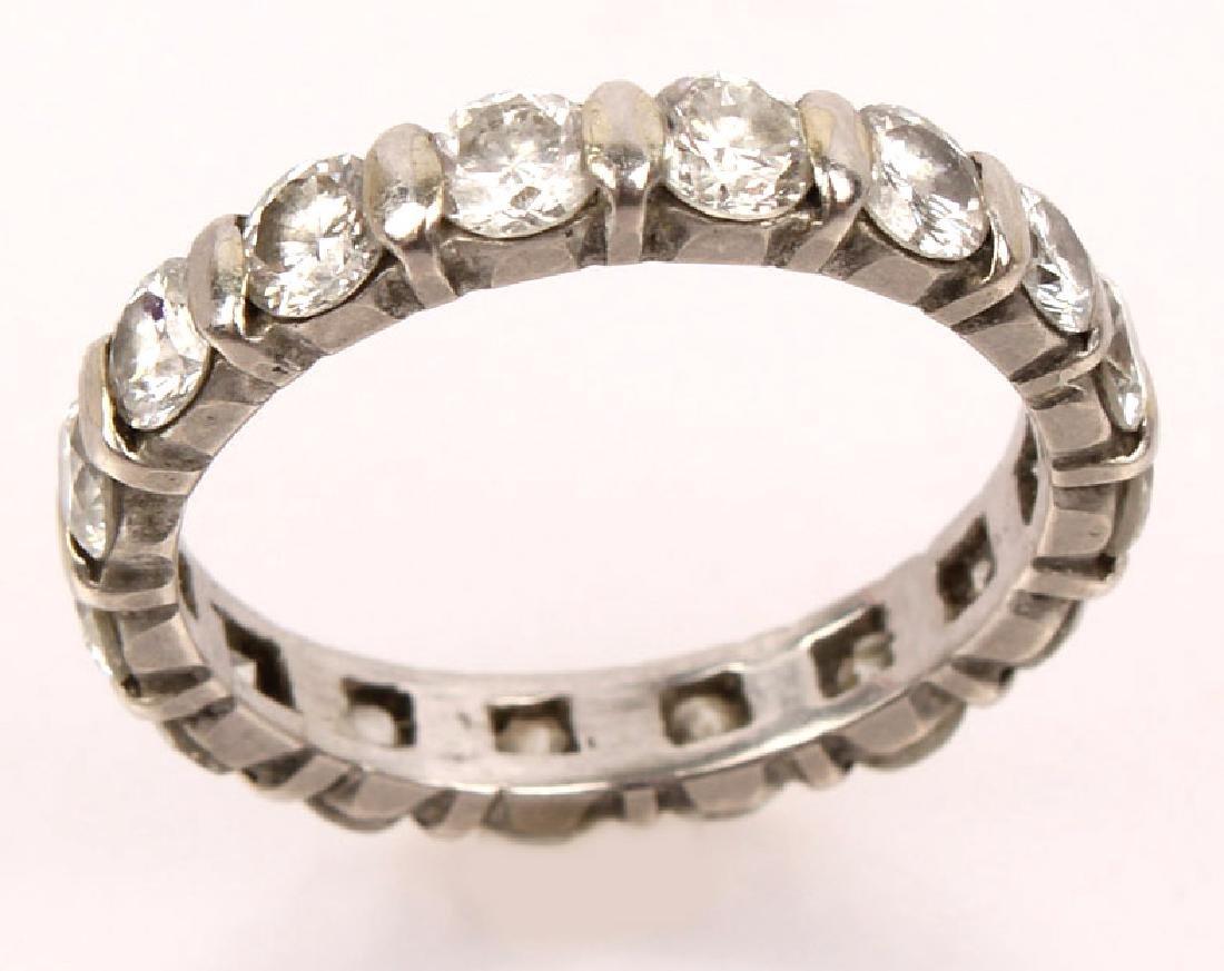 LADIES PLATINUM DIAMOND ETERNITY BAND