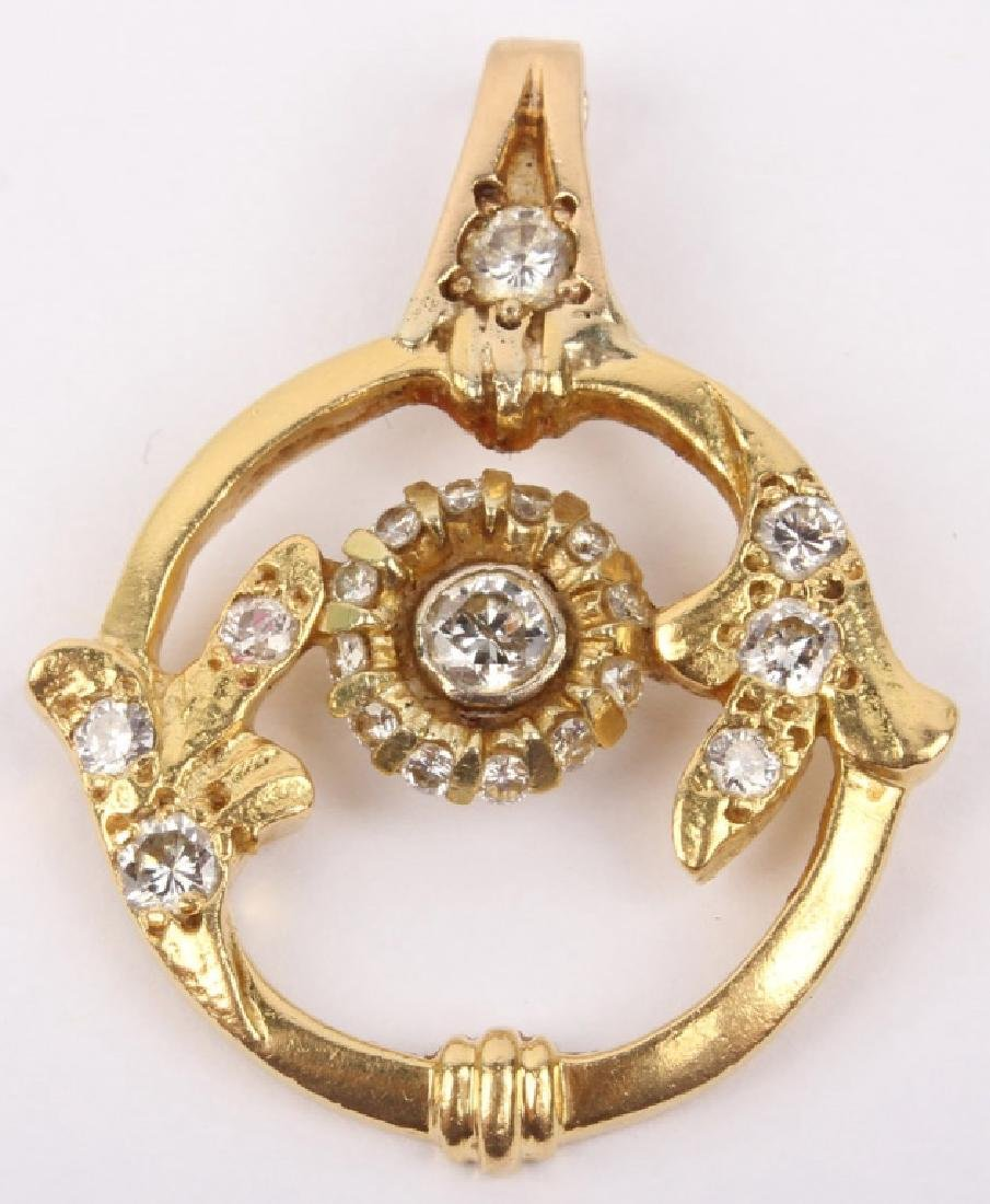 18K YELLOW GOLD & DIAMOND PENDANT