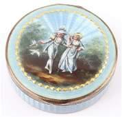ANTIQUE FRENCH .935 SILVER GUILLOCHE PILL BOX