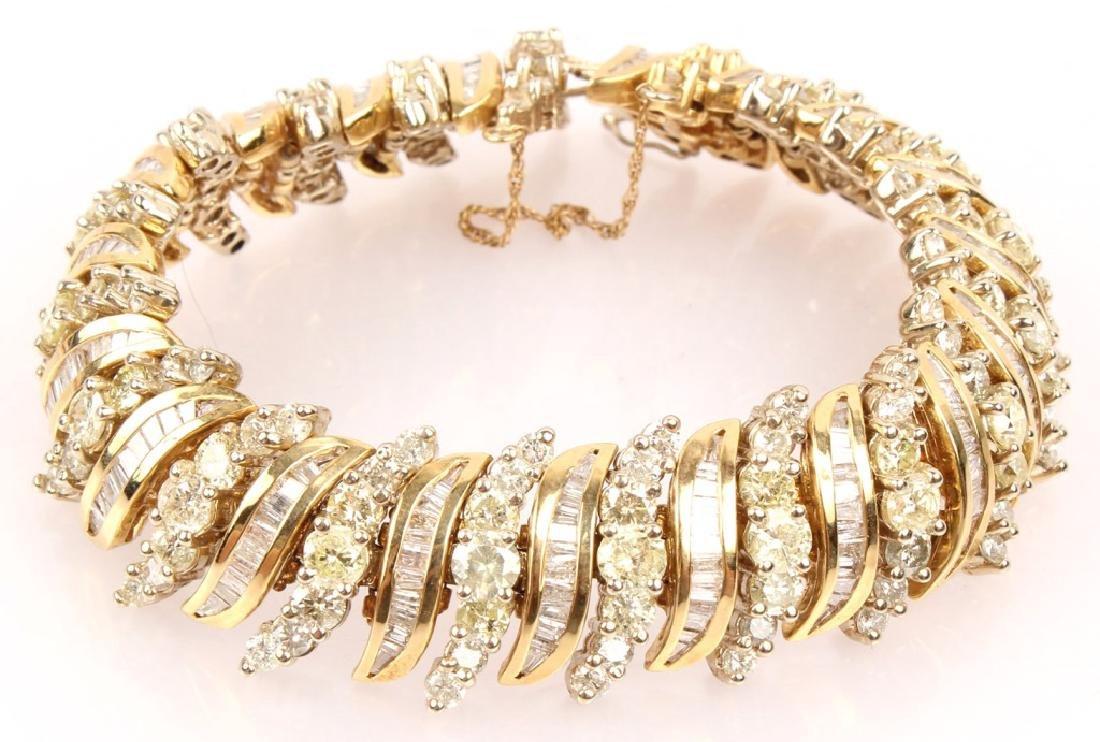 LADIES 14K YELLOW GOLD DIAMOND BRACELET