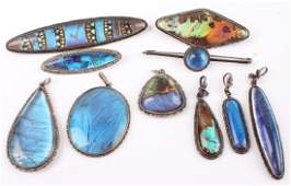 MIXED STERLING SILVER  BUTTERFLY WING JEWELRY