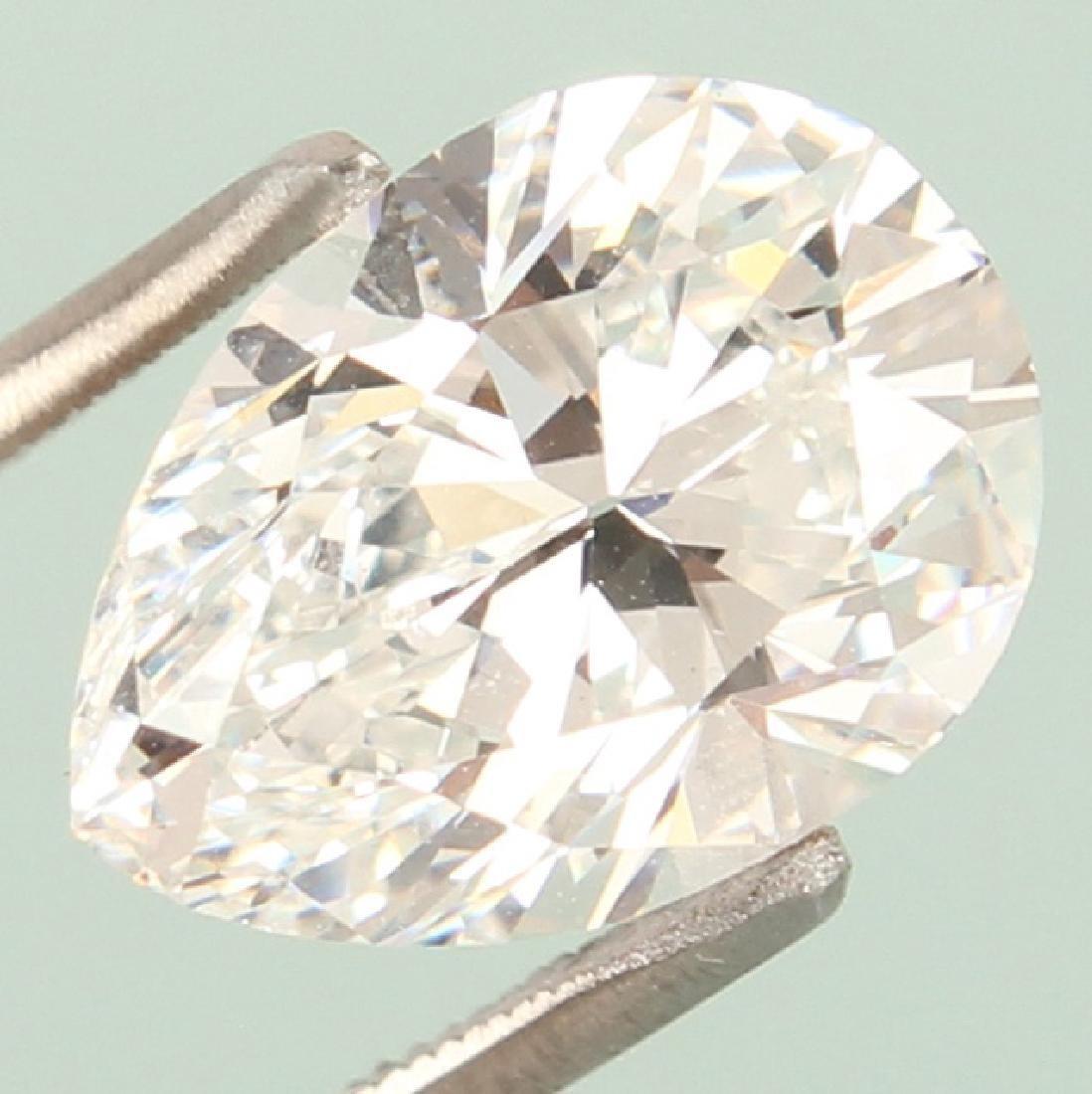PEAR BRILLIANT CUT 3.34 CARAT GIA F VS2 DIAMOND