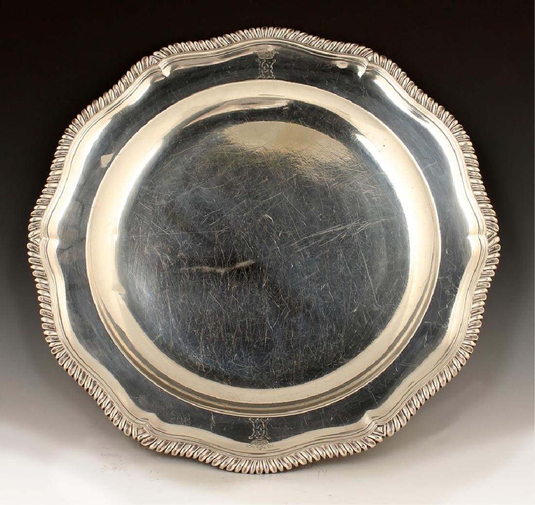 18TH C. JOHN JACOB STERLING SILVER SERVING TRAY - 4
