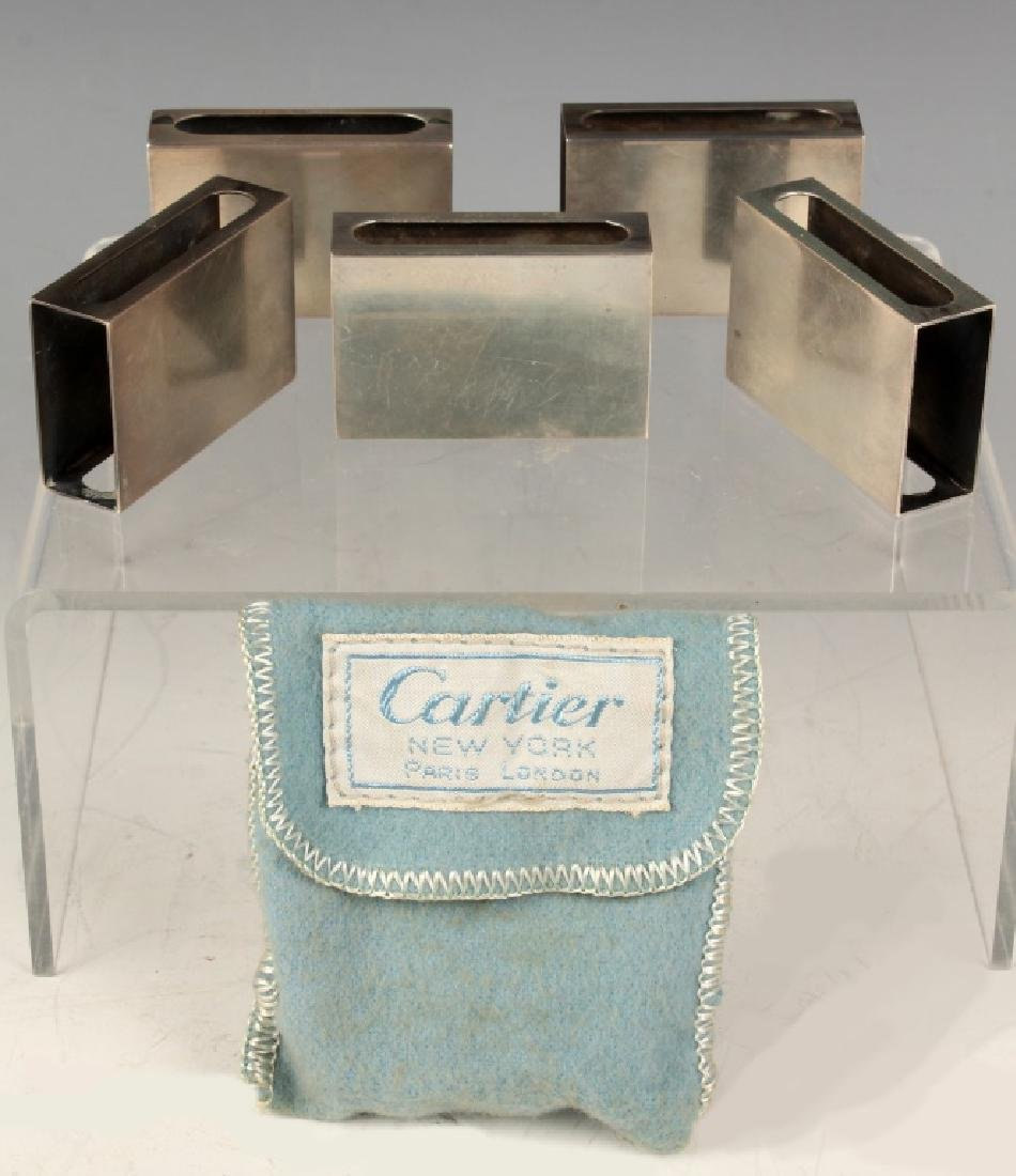 5 CARTIER NEW YORK STERLING SILVER MATCHBOX CASES