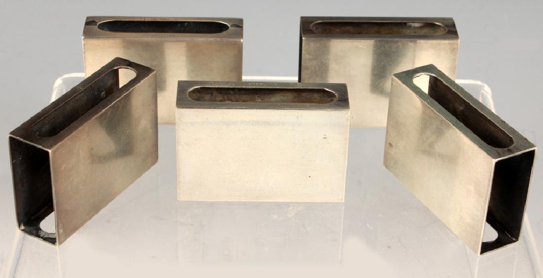 5 CARTIER NEW YORK STERLING SILVER MATCHBOX CASES - 2