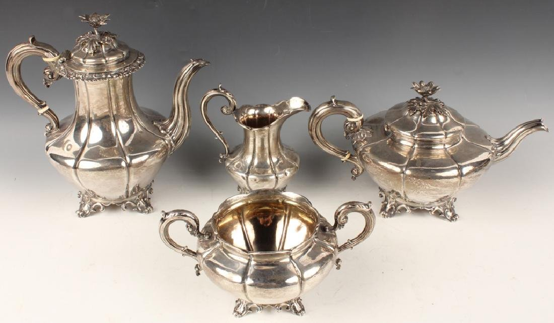 EARLY STERLING SILVER TEA SERVICE EDWARD BARNARD