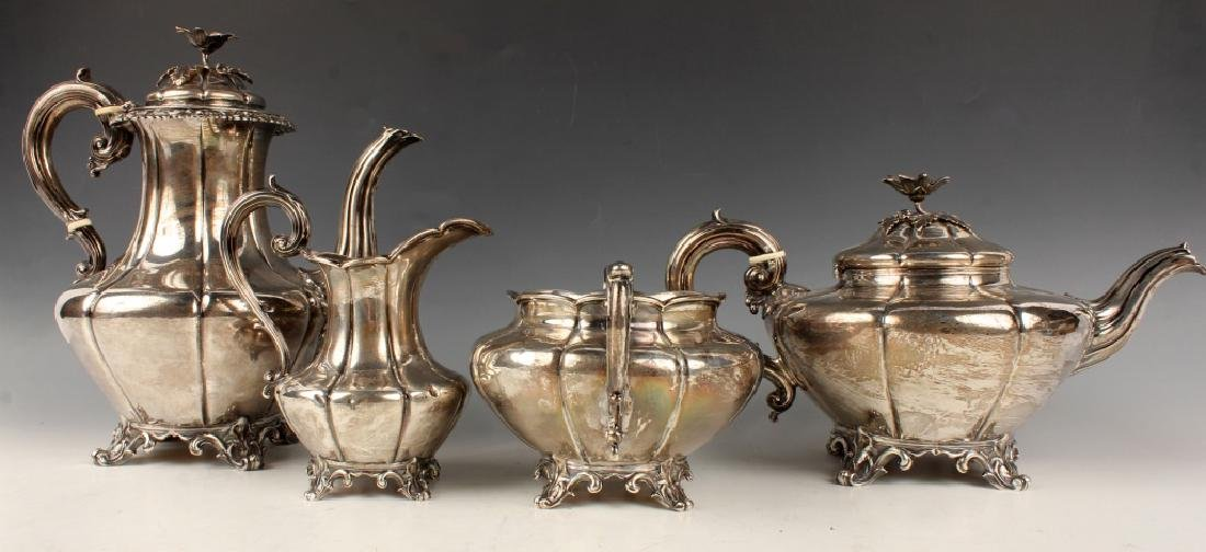 EARLY STERLING SILVER TEA SERVICE EDWARD BARNARD - 3