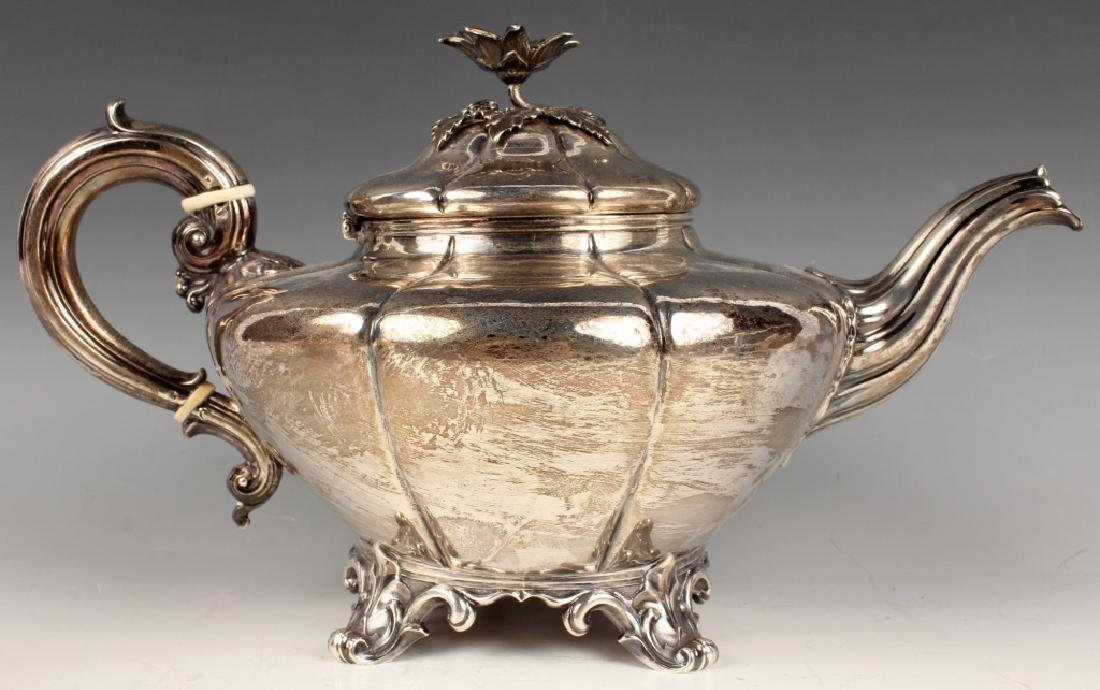 EARLY STERLING SILVER TEA SERVICE EDWARD BARNARD - 6