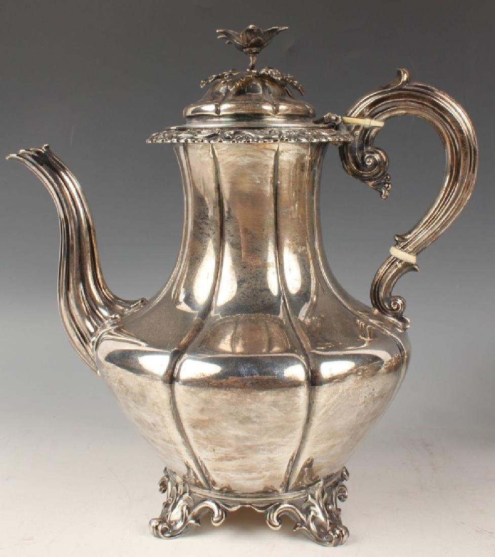 EARLY STERLING SILVER TEA SERVICE EDWARD BARNARD - 8