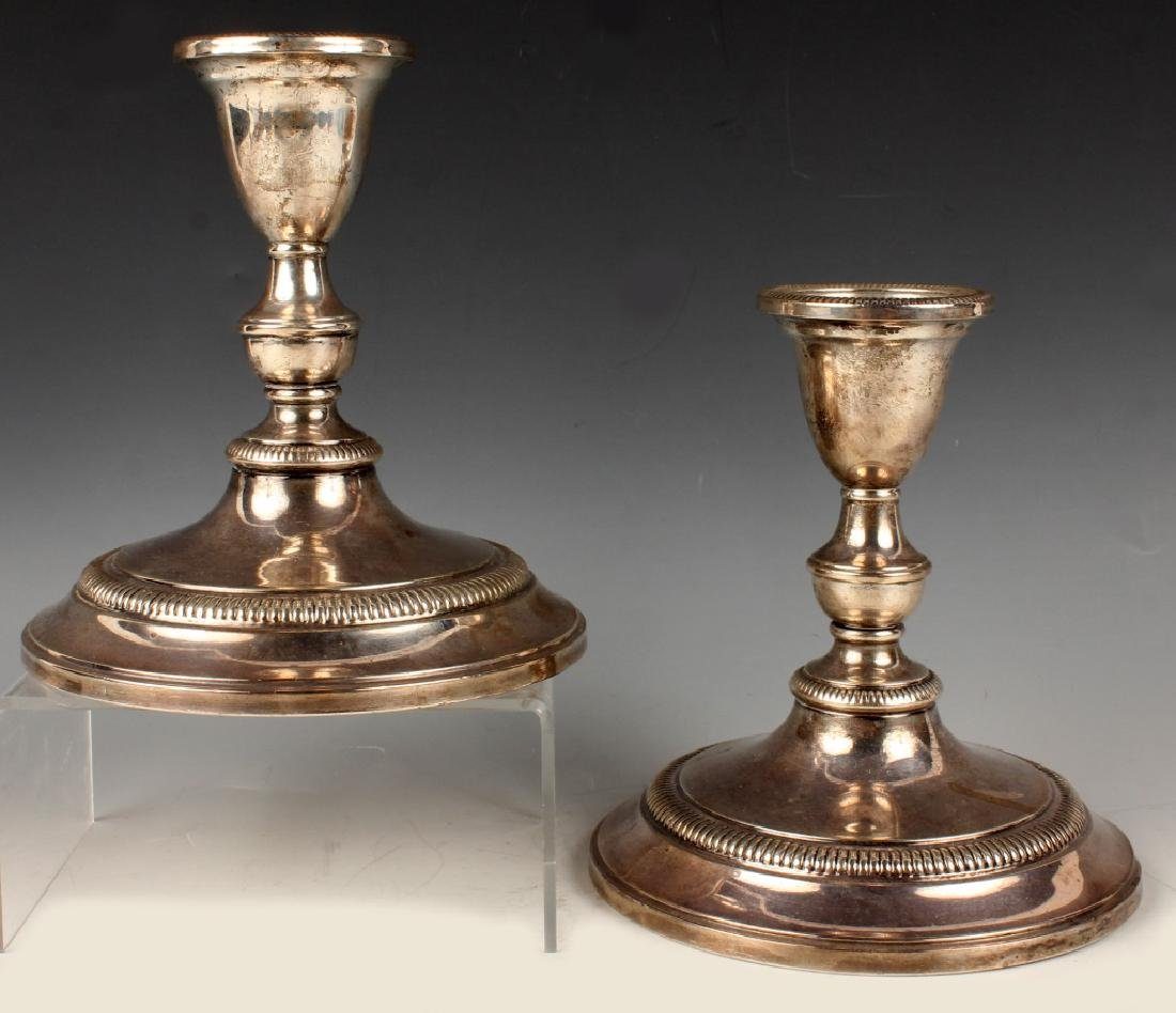 INTERNATIONAL STERLING SILVER CANDLESTICKS