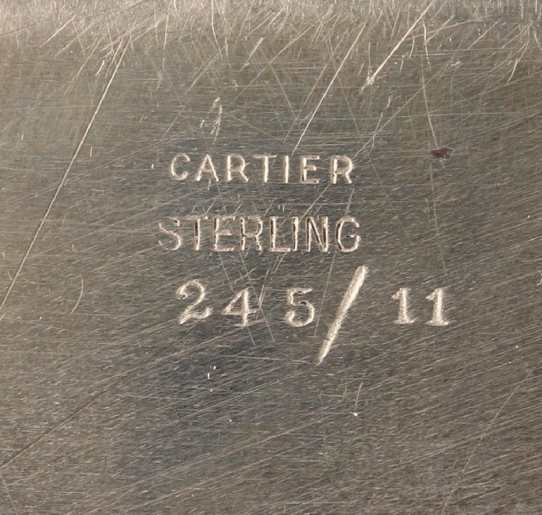 CARTIER NEW YORK STERLING SILVER TRAY - 3