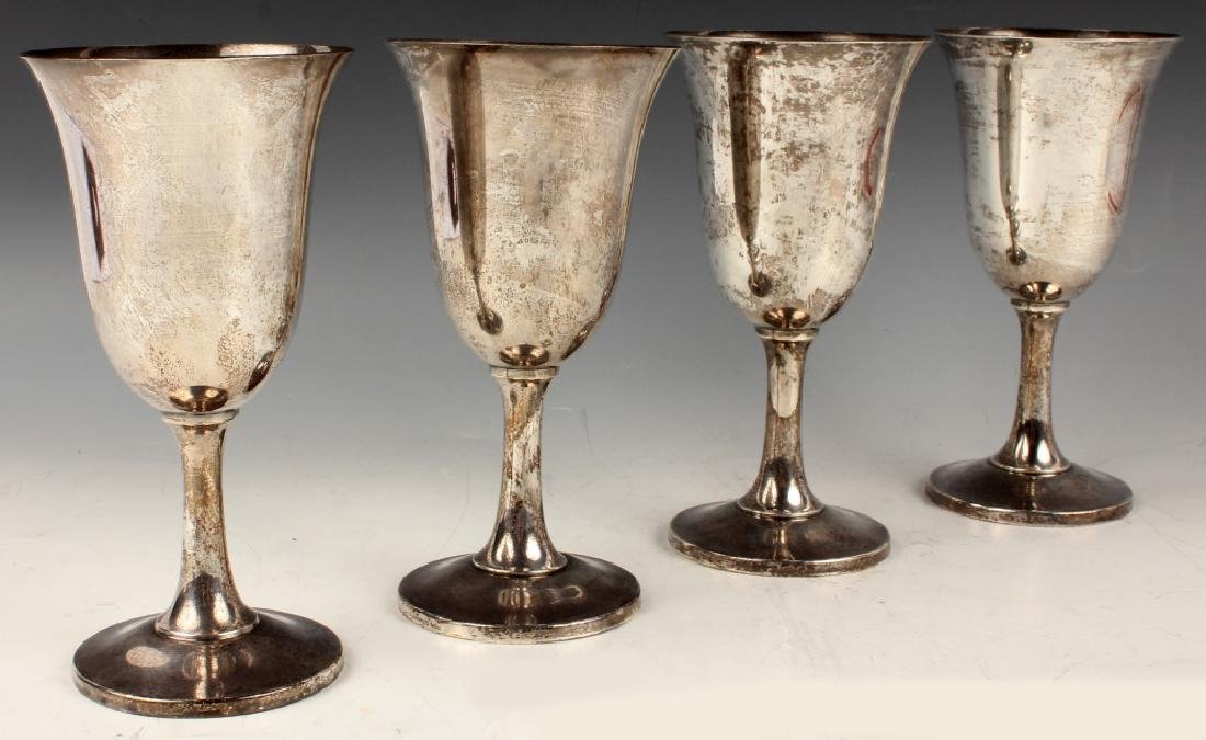 4 WALLACE STERLING SILVER GOBLETS