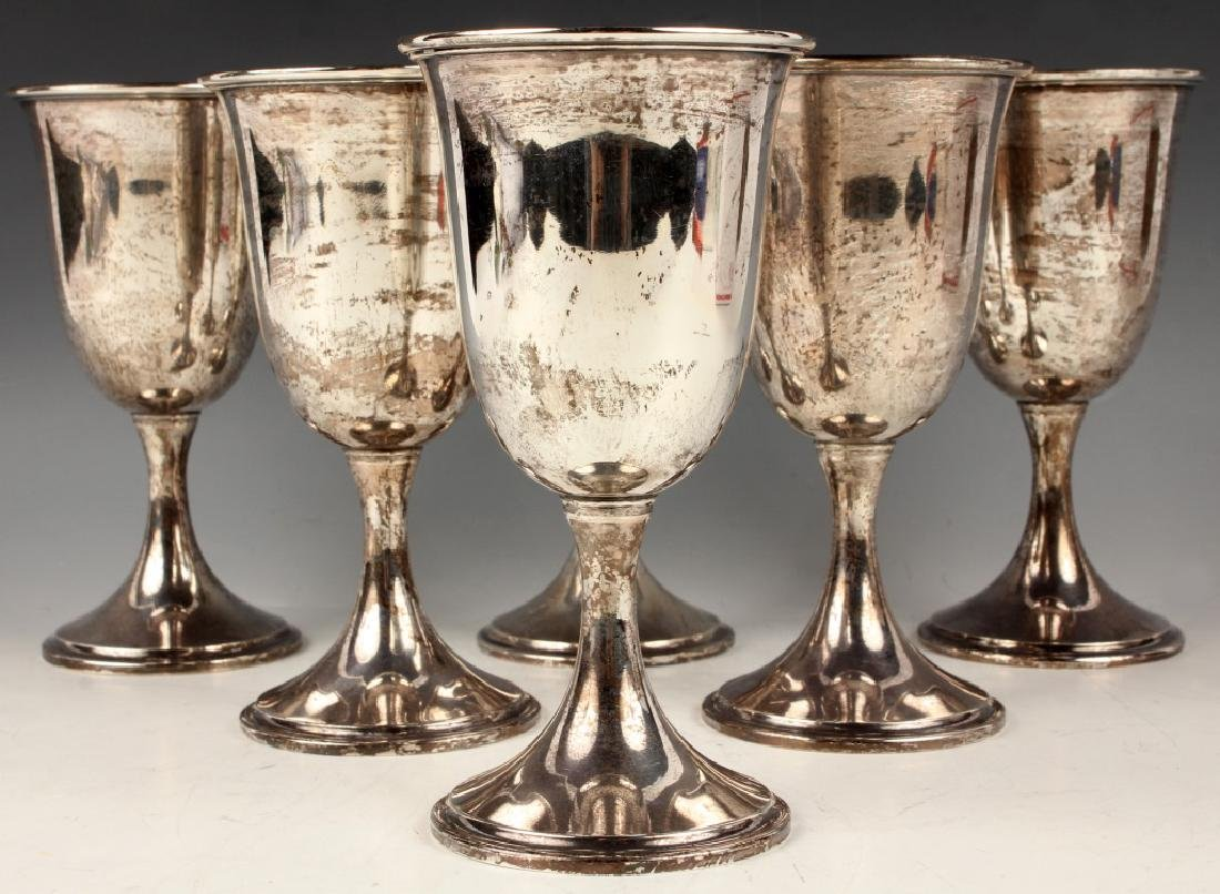 S. KIRK & SON STERLING SILVER GOBLETS - SET OF 6
