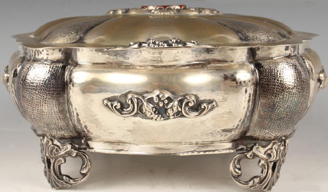 19TH C. ITALIAN 800 SILVER LIDDED TRINKET BOX