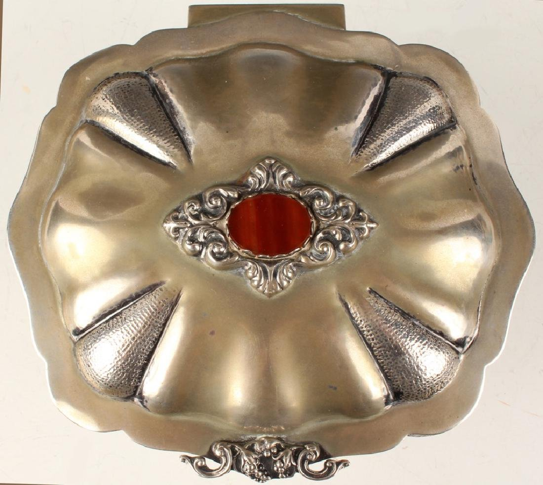 19TH C. ITALIAN 800 SILVER LIDDED TRINKET BOX - 2