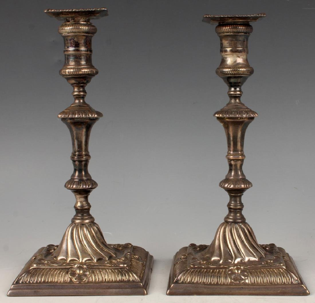19TH C. STERLING SILVER CANDLESTICKS