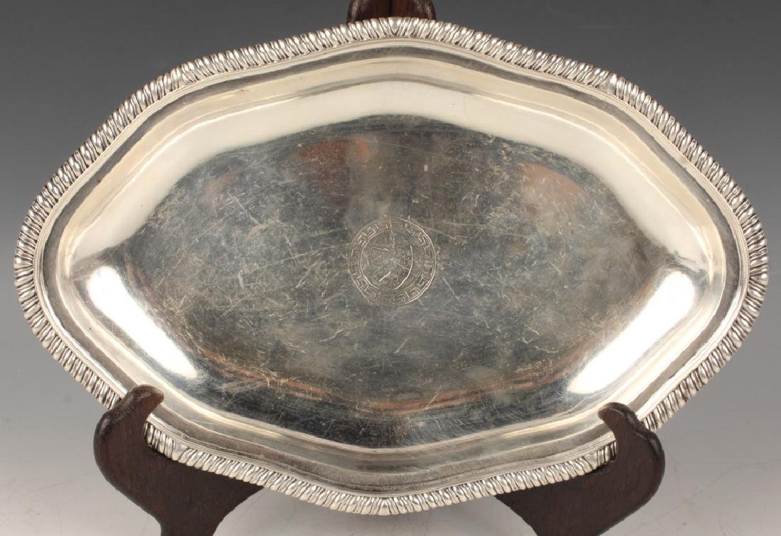 19TH C. ENGLISH STERLING SILVER DISH