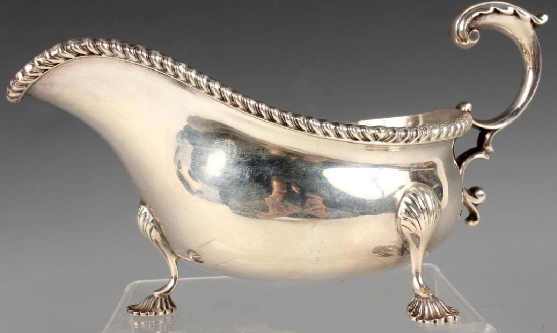 BARKER BROTHERS ENGLISH STERLING SILVER GRAVY BOAT