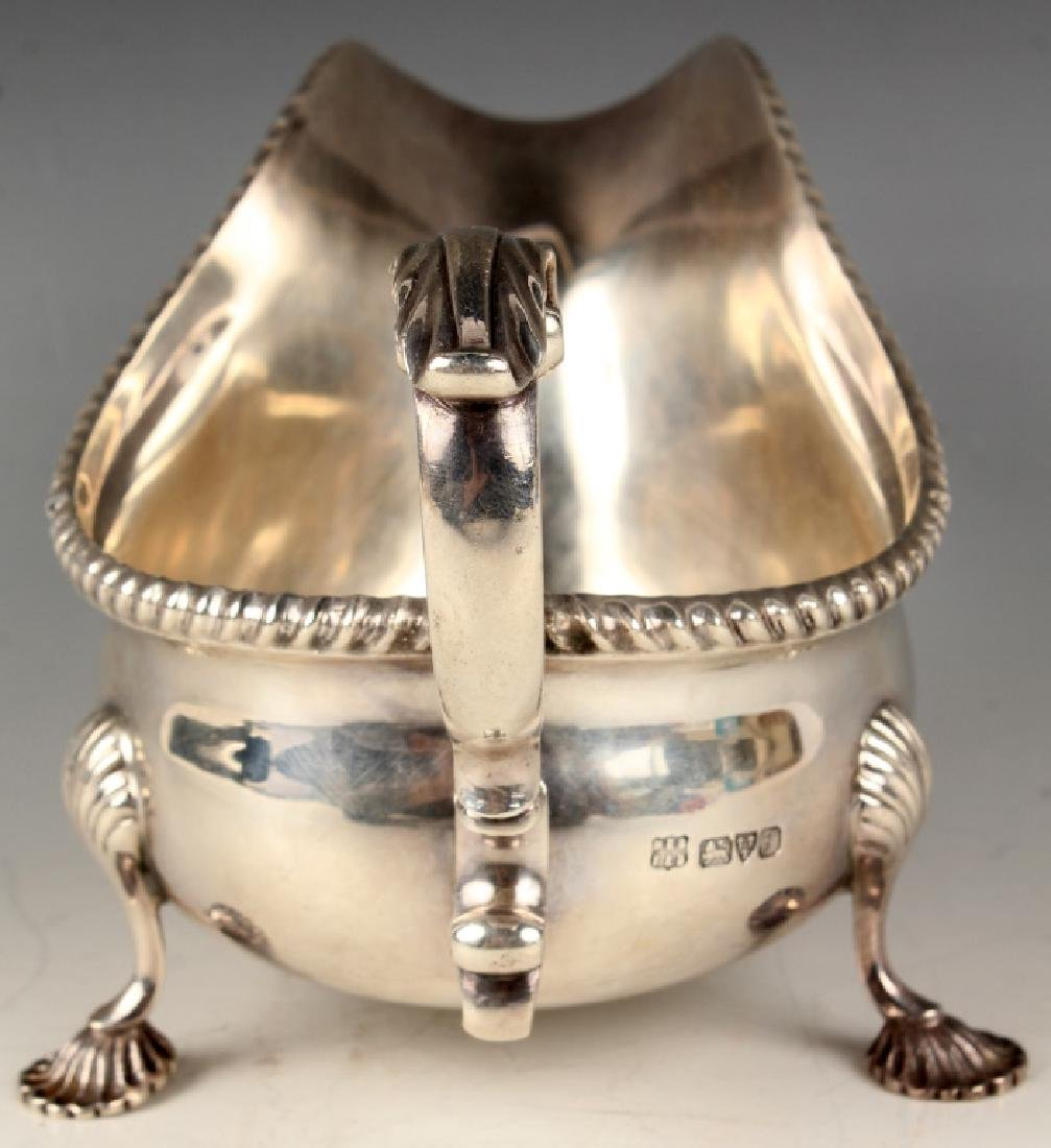 BARKER BROTHERS ENGLISH STERLING SILVER GRAVY BOAT - 2